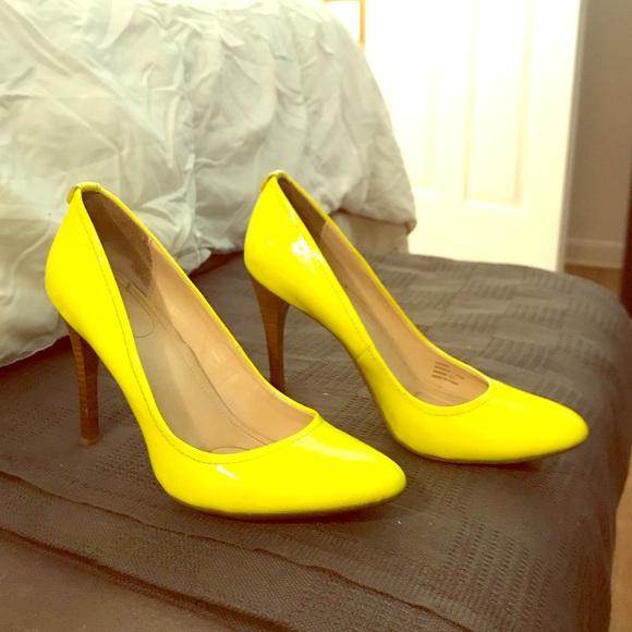 Bright Yellow Calvin Klein Pumps   Poshmark